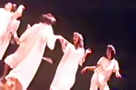 Heavenly angels dance in Bus Stop 23 nativity play
